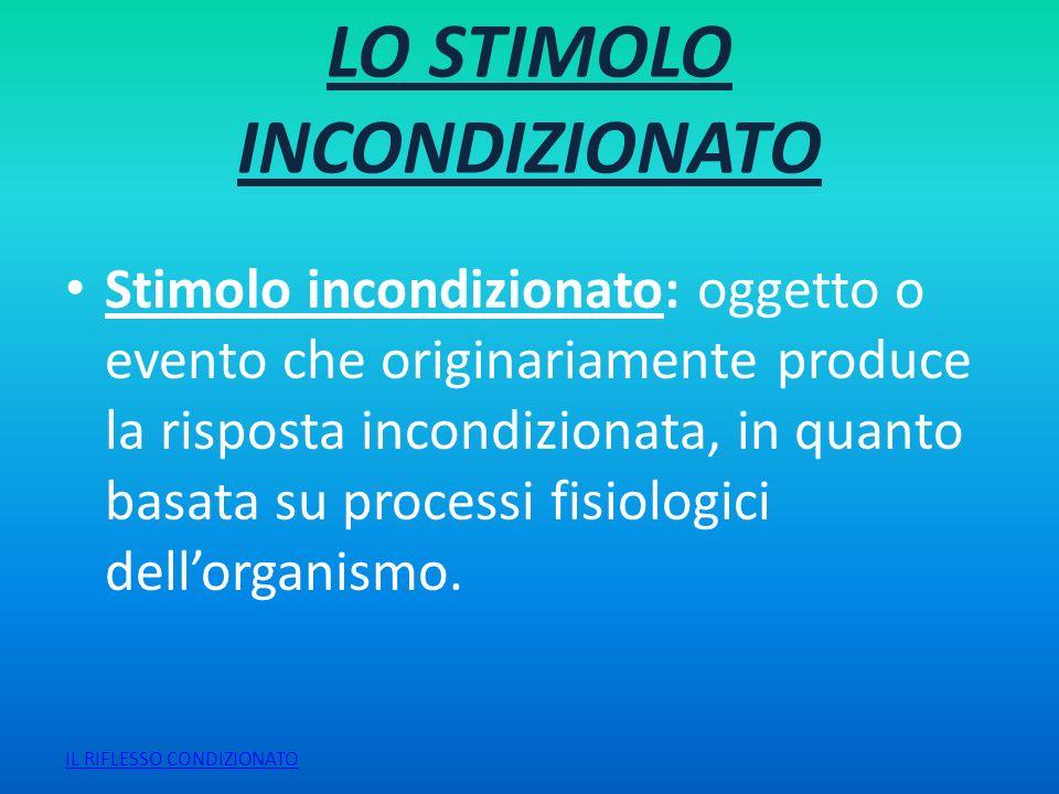 LO STIMOLO INCONDIZIONATO