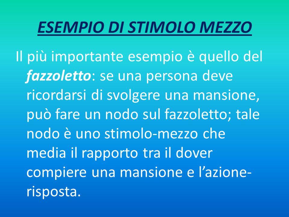 ESEMPIO DI STIMOLO MEZZO