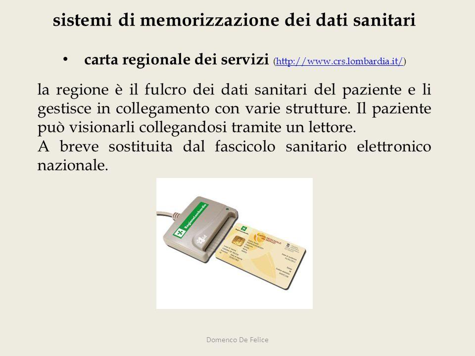 sistemi di memorizzazione dei dati sanitari