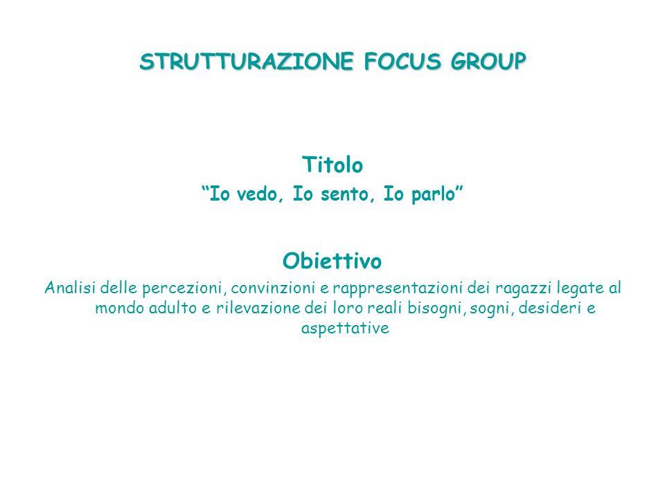 STRUTTURAZIONE FOCUS GROUP