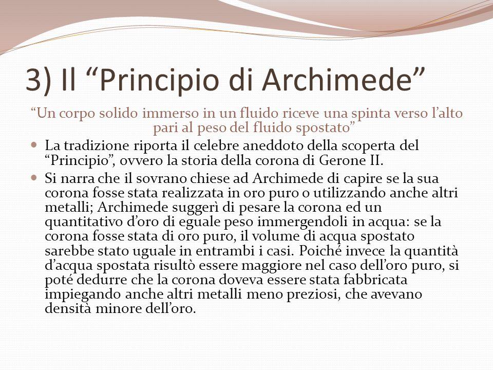 3) Il Principio di Archimede