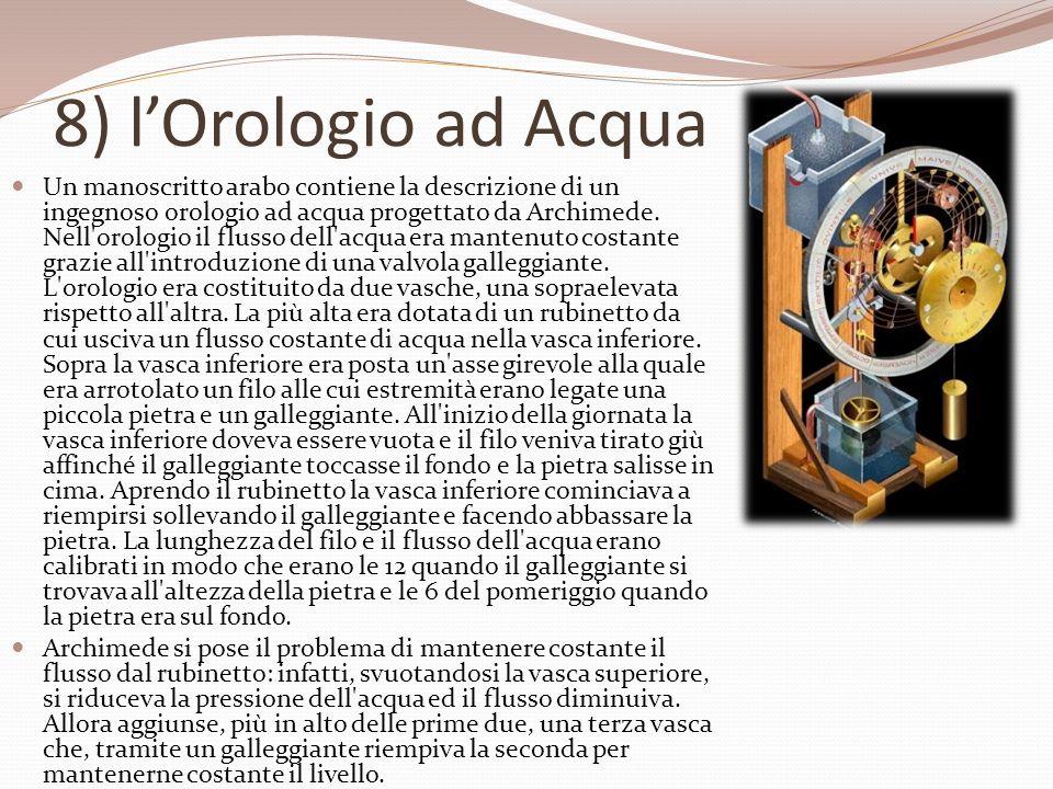 8) l'Orologio ad Acqua