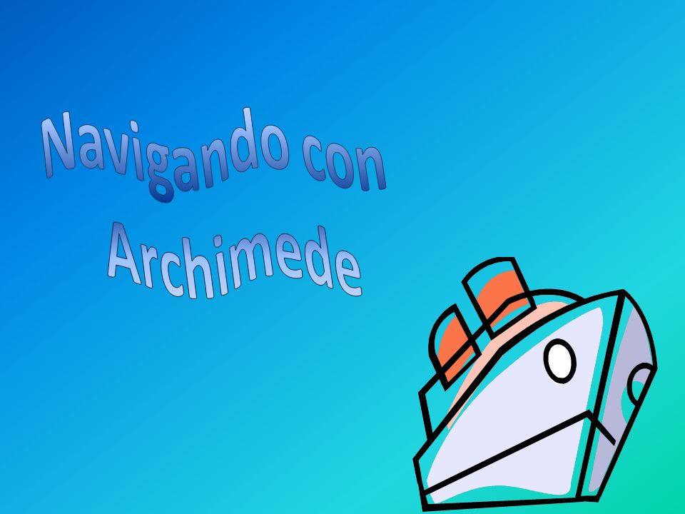 Navigando con Archimede