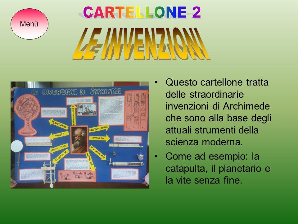 CARTELLONE 2 LE INVENZIONI