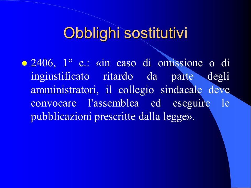 29/03/2017 Obblighi sostitutivi.
