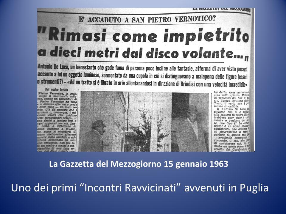 Uno dei primi Incontri Ravvicinati avvenuti in Puglia