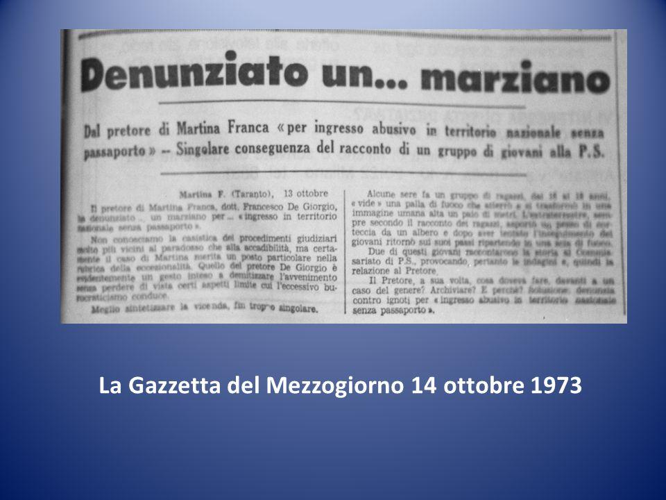 La Gazzetta del Mezzogiorno 14 ottobre 1973
