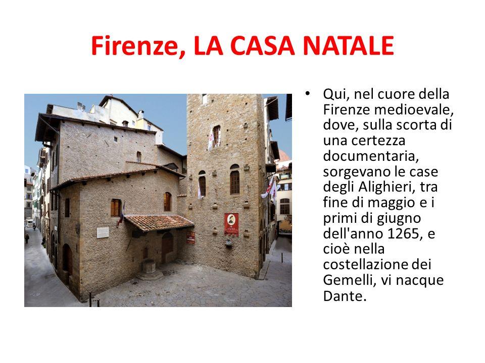 Firenze, LA CASA NATALE