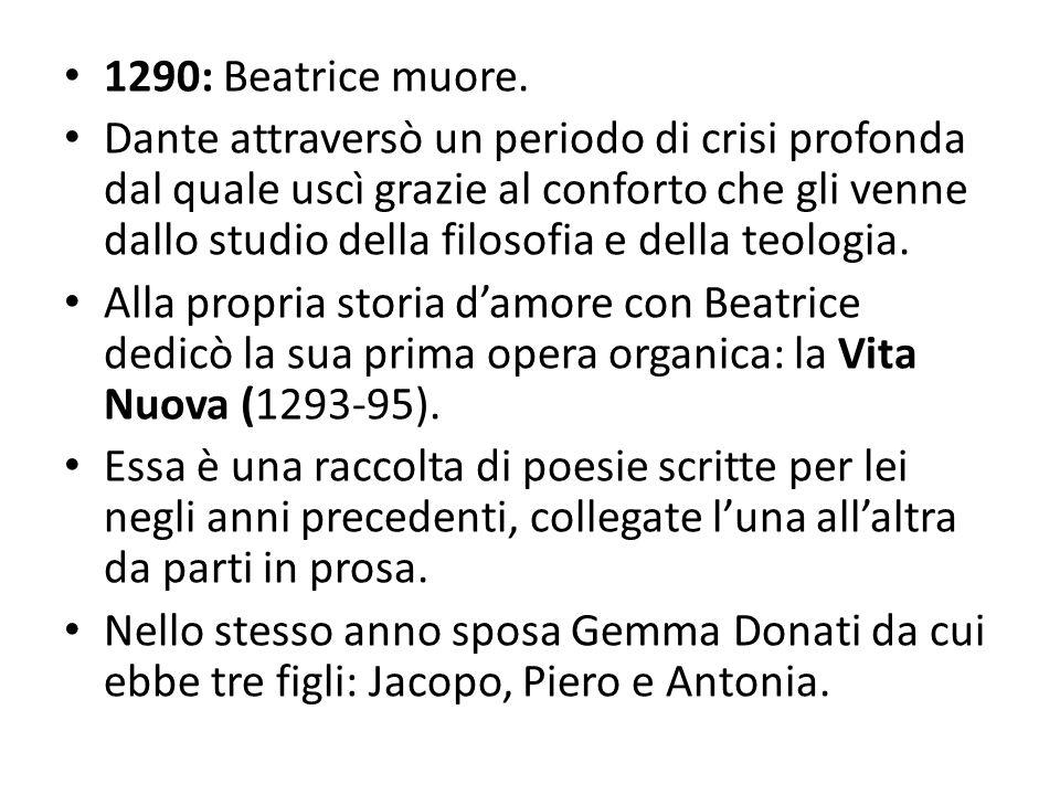 1290: Beatrice muore.