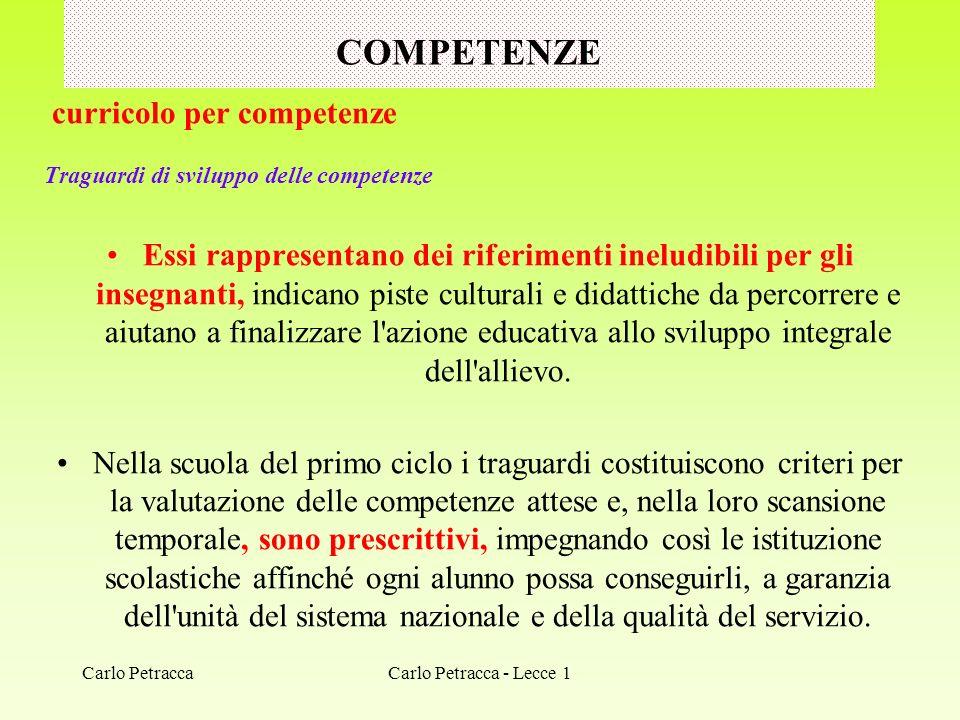 COMPETENZE curricolo per competenze