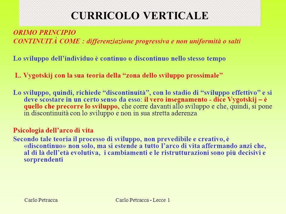 CURRICOLO VERTICALE ORIMO PRINCIPIO