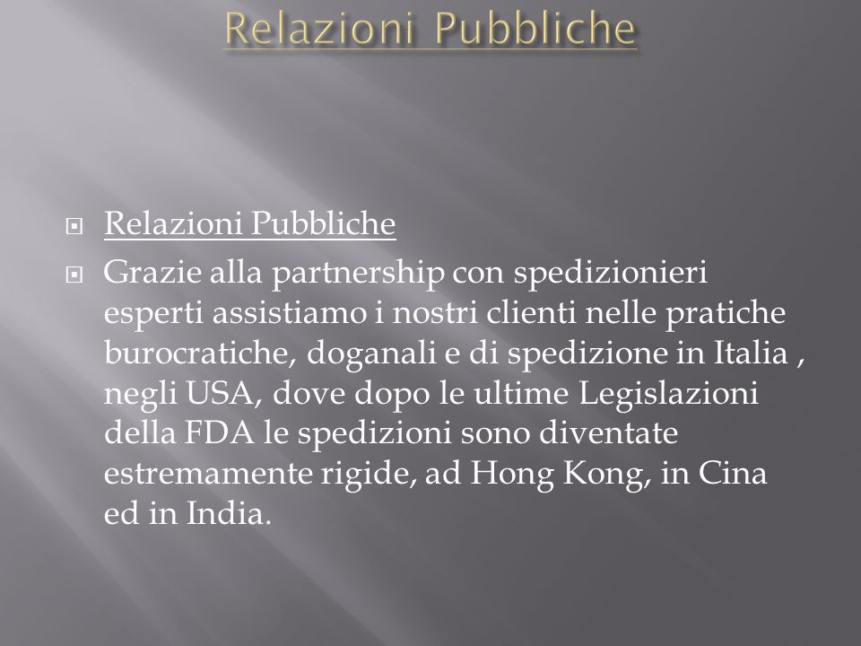 Relazioni Pubbliche Relazioni Pubbliche