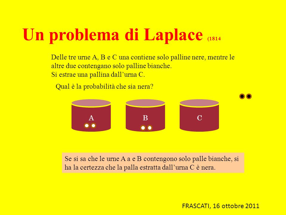 Un problema di Laplace (1814