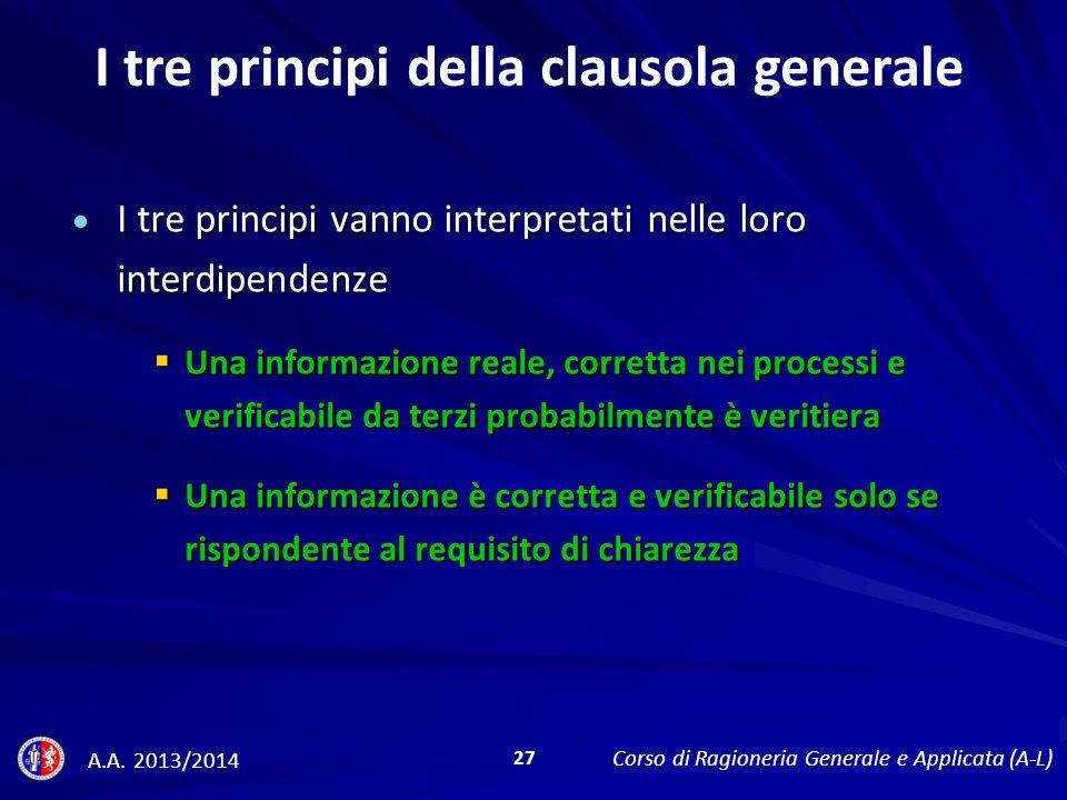 I tre principi della clausola generale