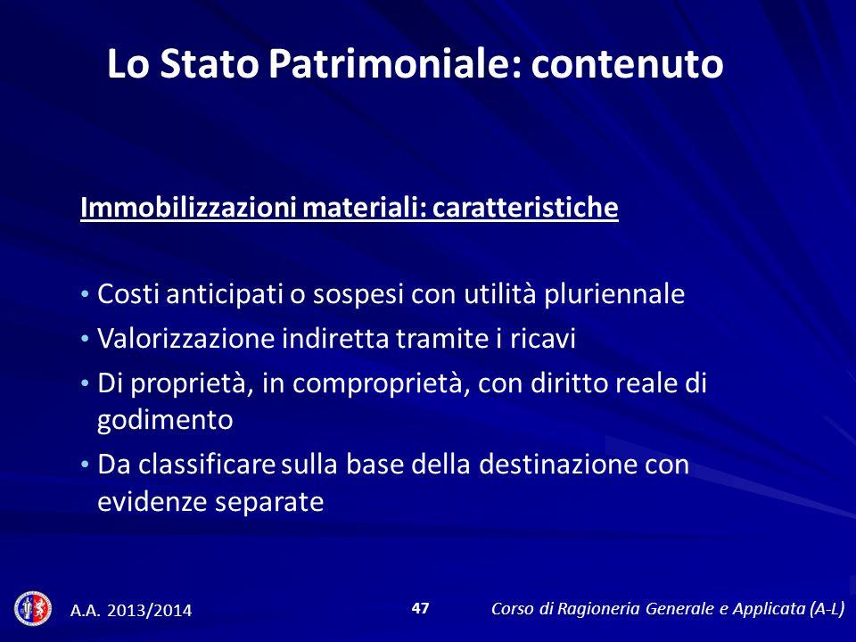 Lo Stato Patrimoniale: contenuto