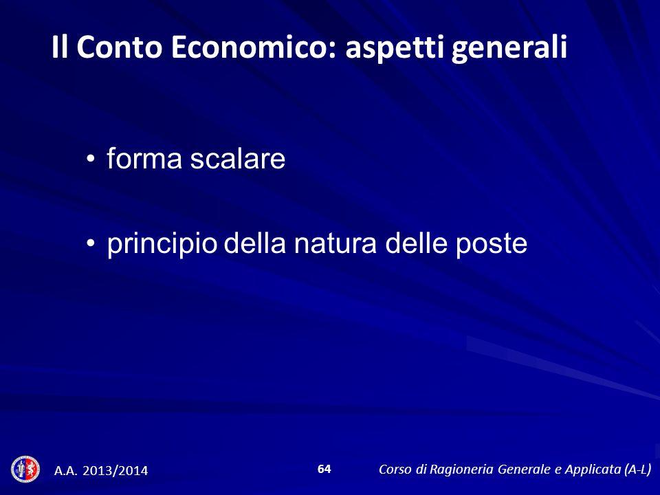 Il Conto Economico: aspetti generali