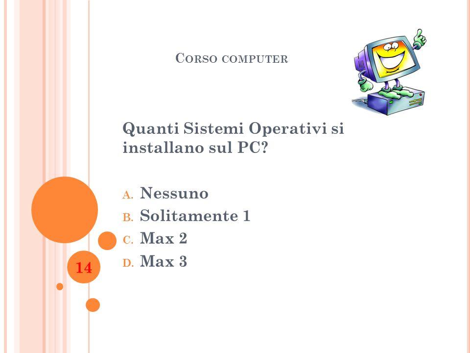 Quanti Sistemi Operativi si installano sul PC