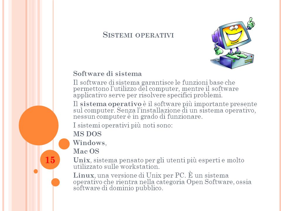 Sistemi operativi Software di sistema