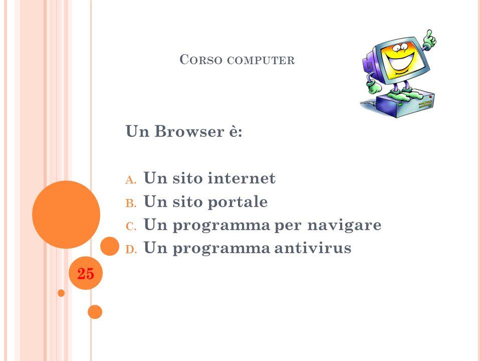 Un programma per navigare Un programma antivirus