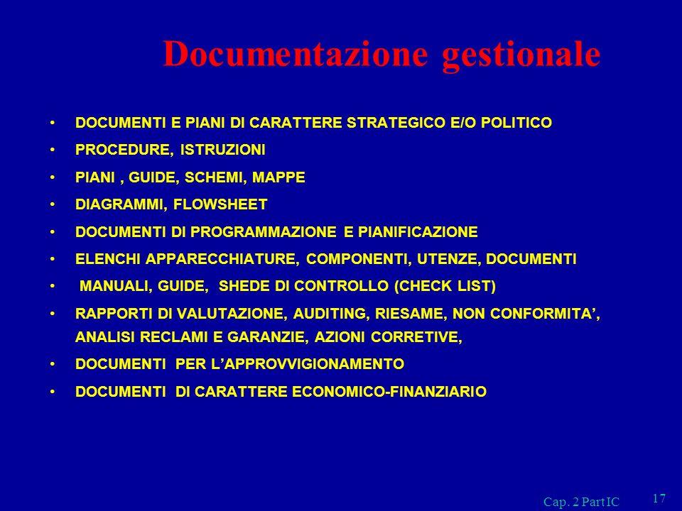 Documentazione gestionale