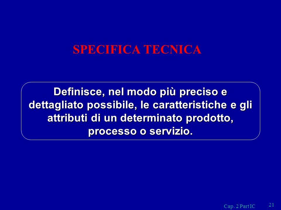SPECIFICA TECNICA