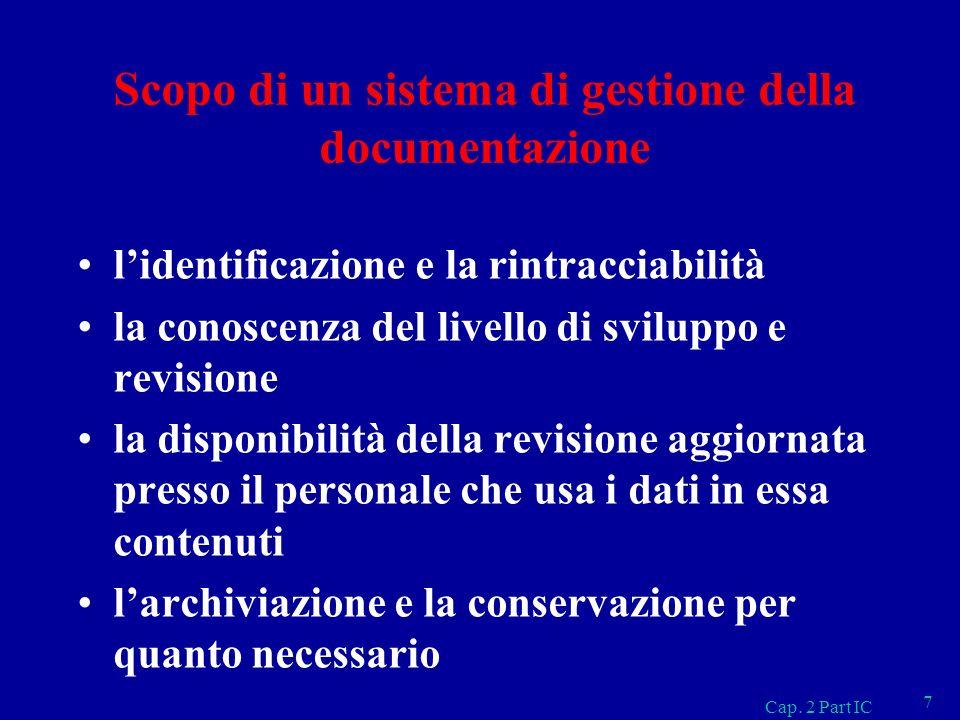 Scopo di un sistema di gestione della documentazione