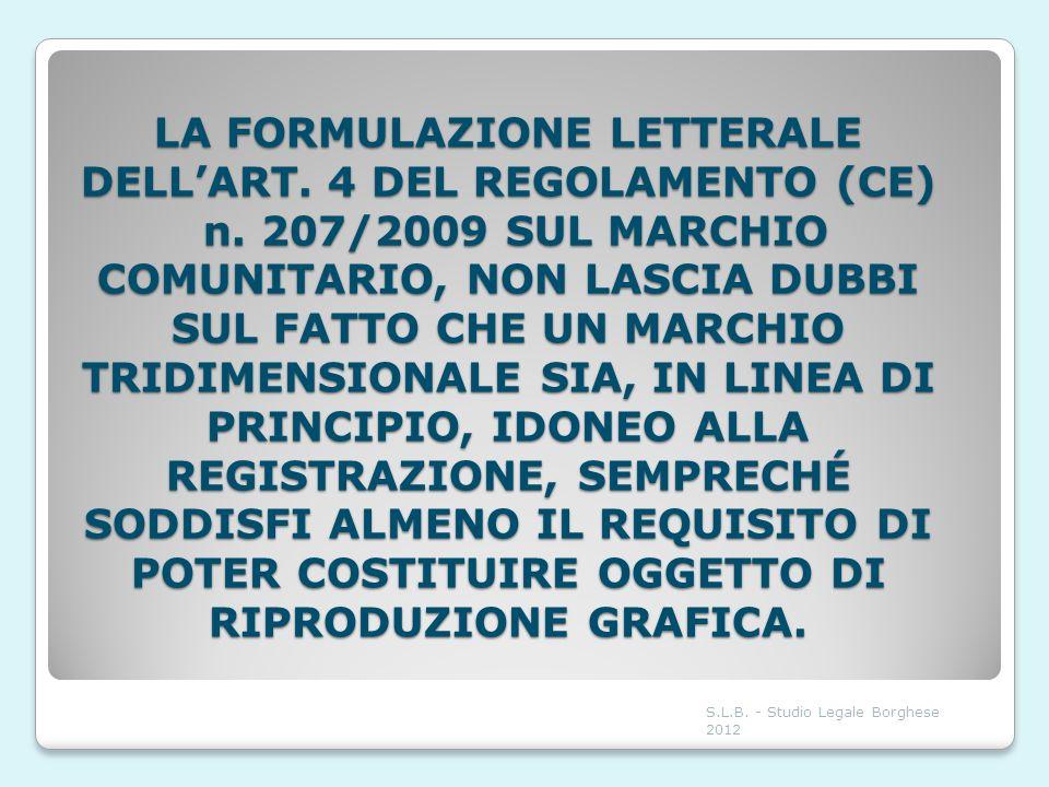 LA FORMULAZIONE LETTERALE DELL'ART. 4 DEL REGOLAMENTO (CE) n