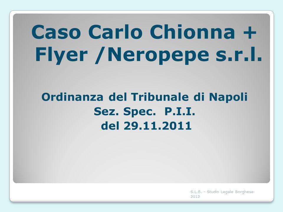 Caso Carlo Chionna + Flyer /Neropepe s.r.l.