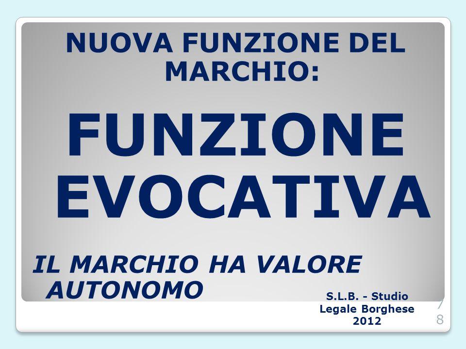 NUOVA FUNZIONE DEL MARCHIO: S.L.B. - Studio Legale Borghese 2012