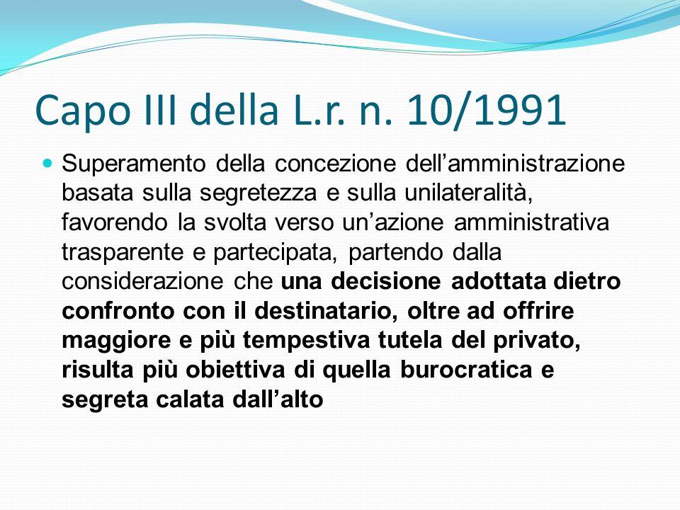 Capo III della L.r. n. 10/1991