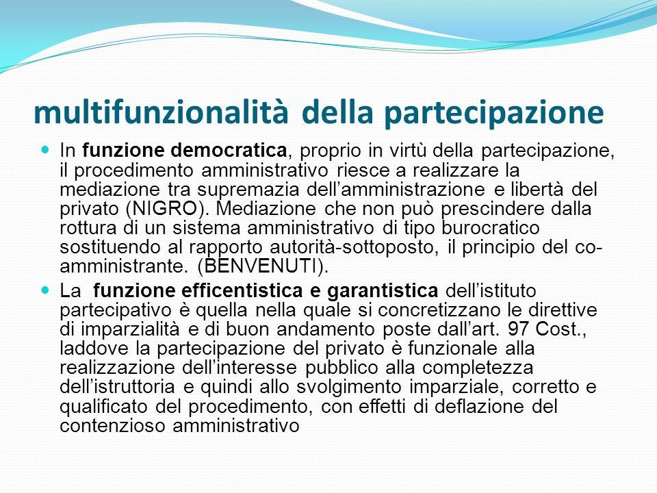 multifunzionalità della partecipazione