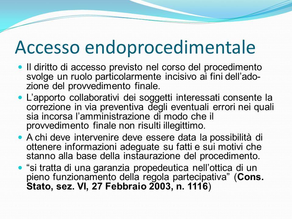 Accesso endoprocedimentale