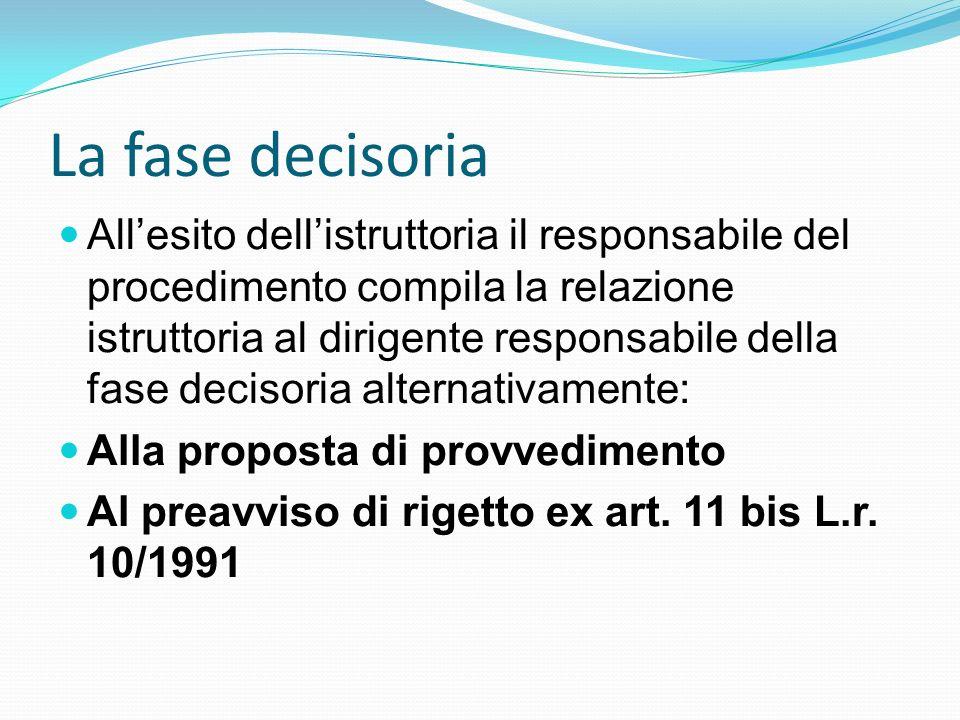 La fase decisoria