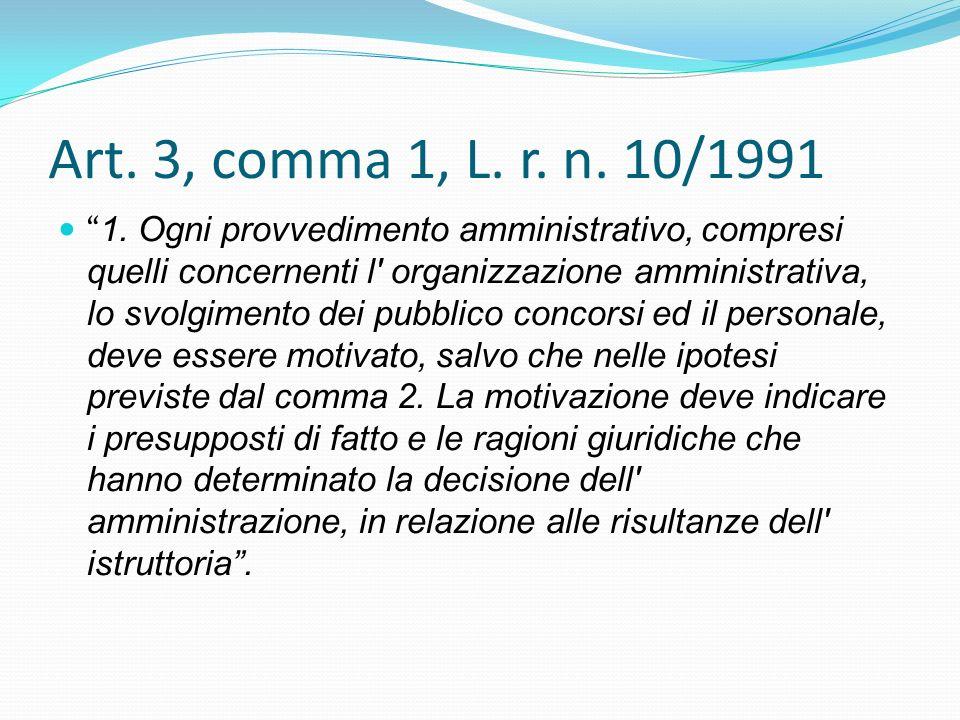 Art. 3, comma 1, L. r. n. 10/1991