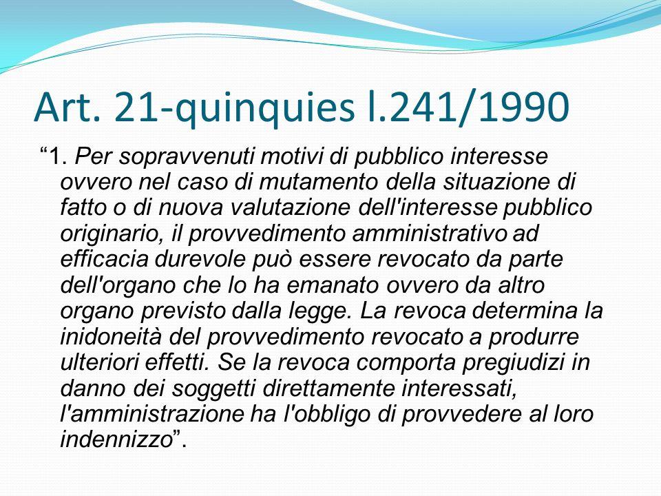 Art. 21-quinquies l.241/1990