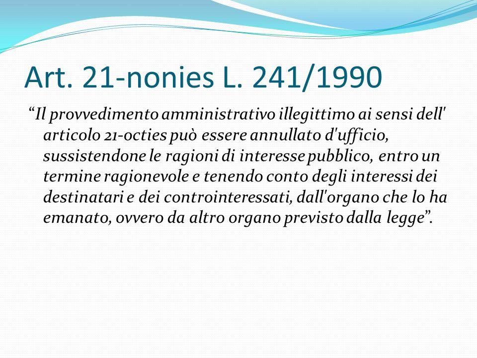 Art. 21-nonies L. 241/1990