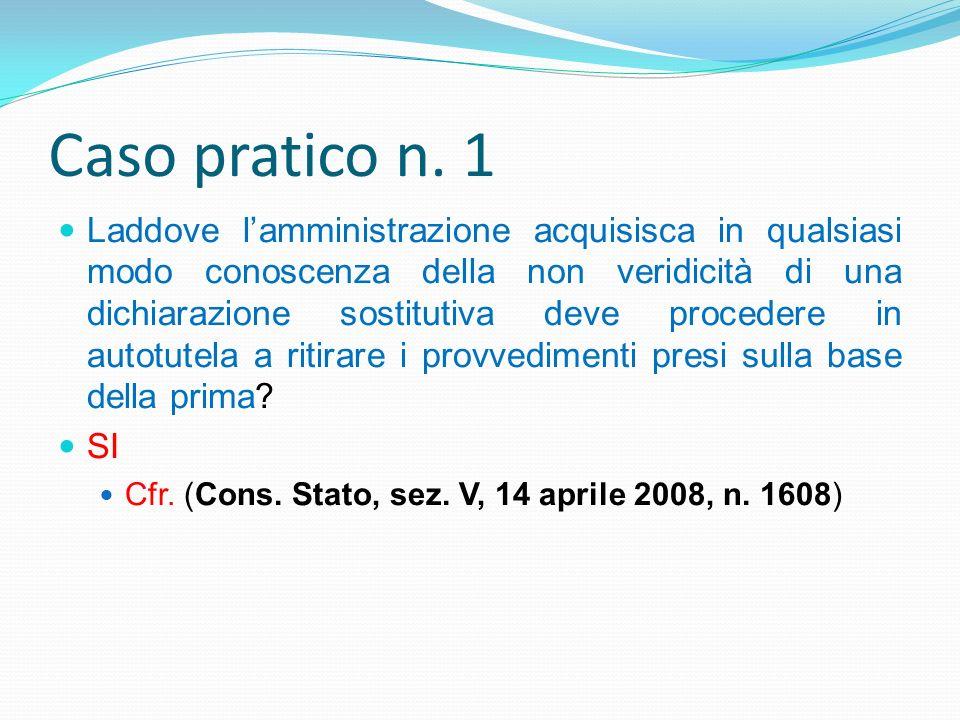 Caso pratico n. 1