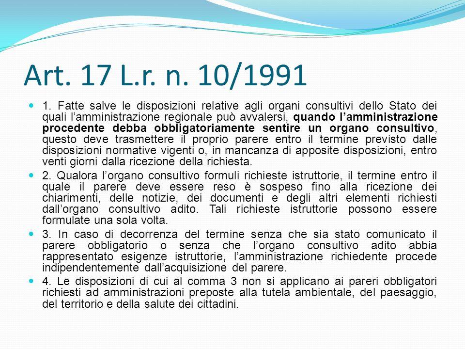 Art. 17 L.r. n. 10/1991