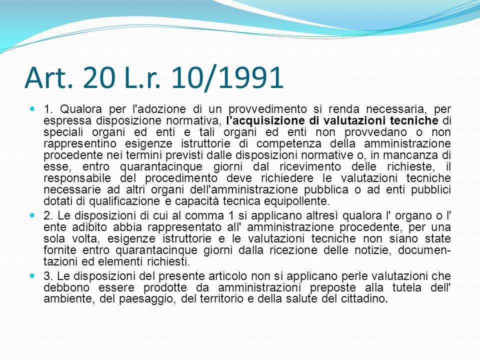 Art. 20 L.r. 10/1991