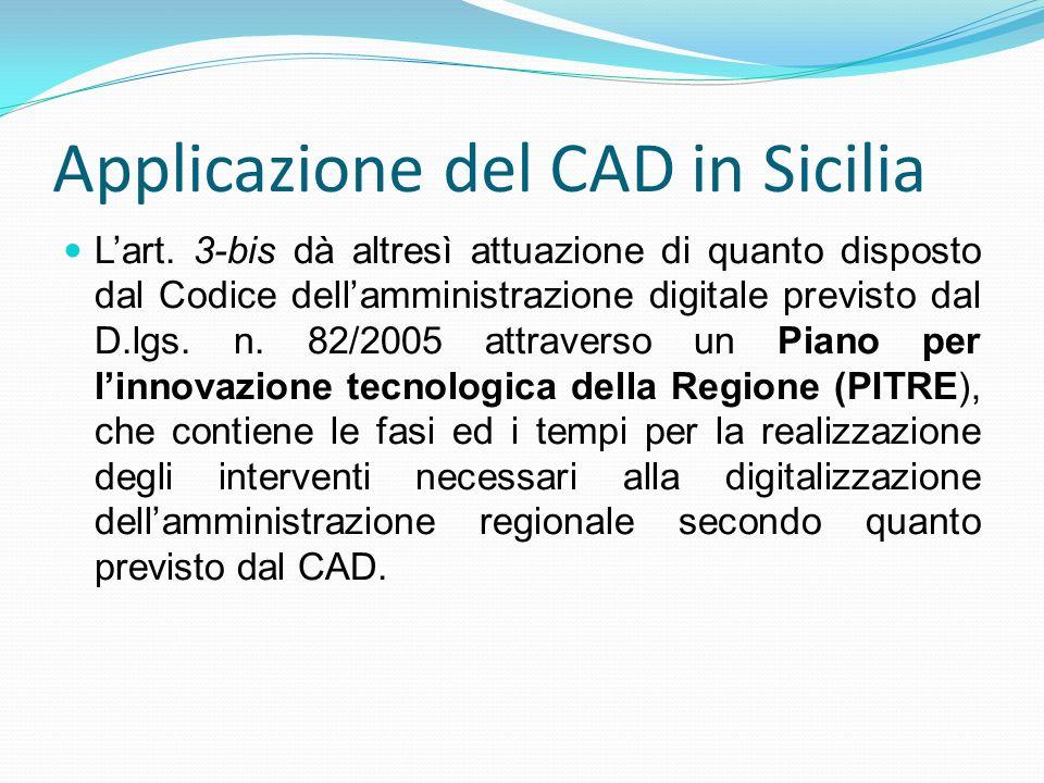 Applicazione del CAD in Sicilia
