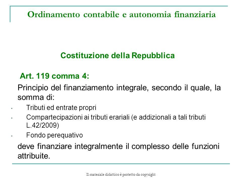 Ordinamento contabile e autonomia finanziaria