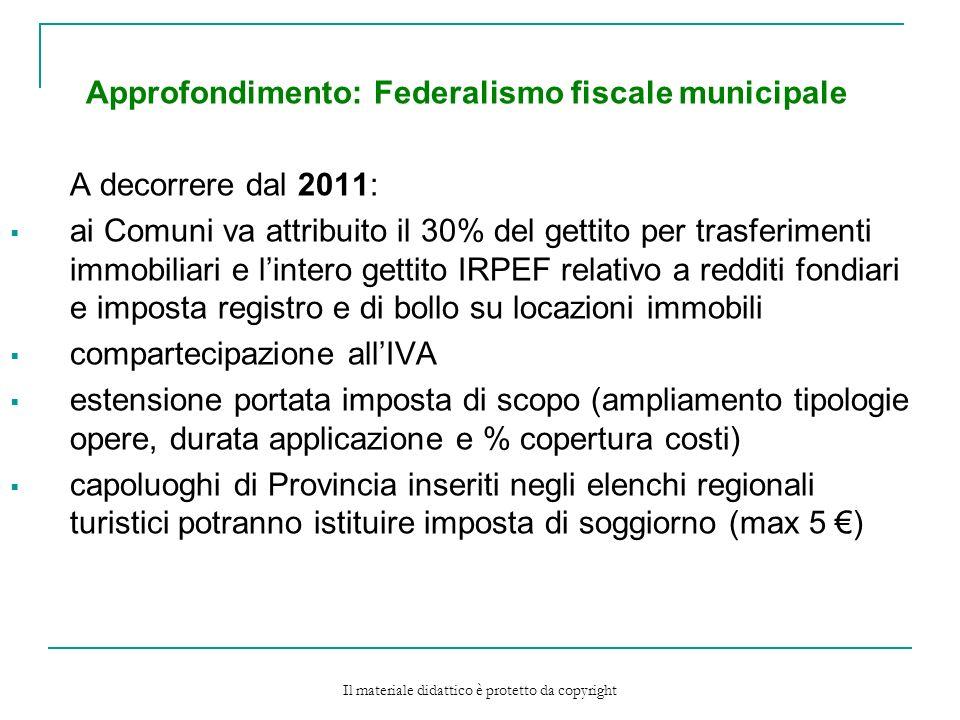 Approfondimento: Federalismo fiscale municipale