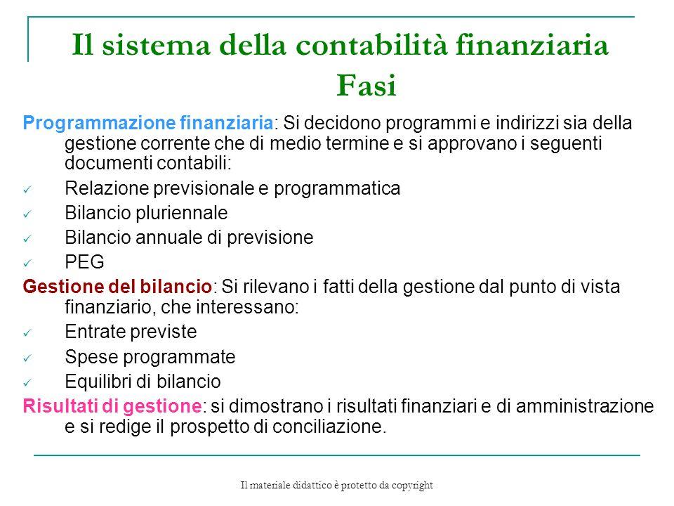 Il sistema della contabilità finanziaria Fasi