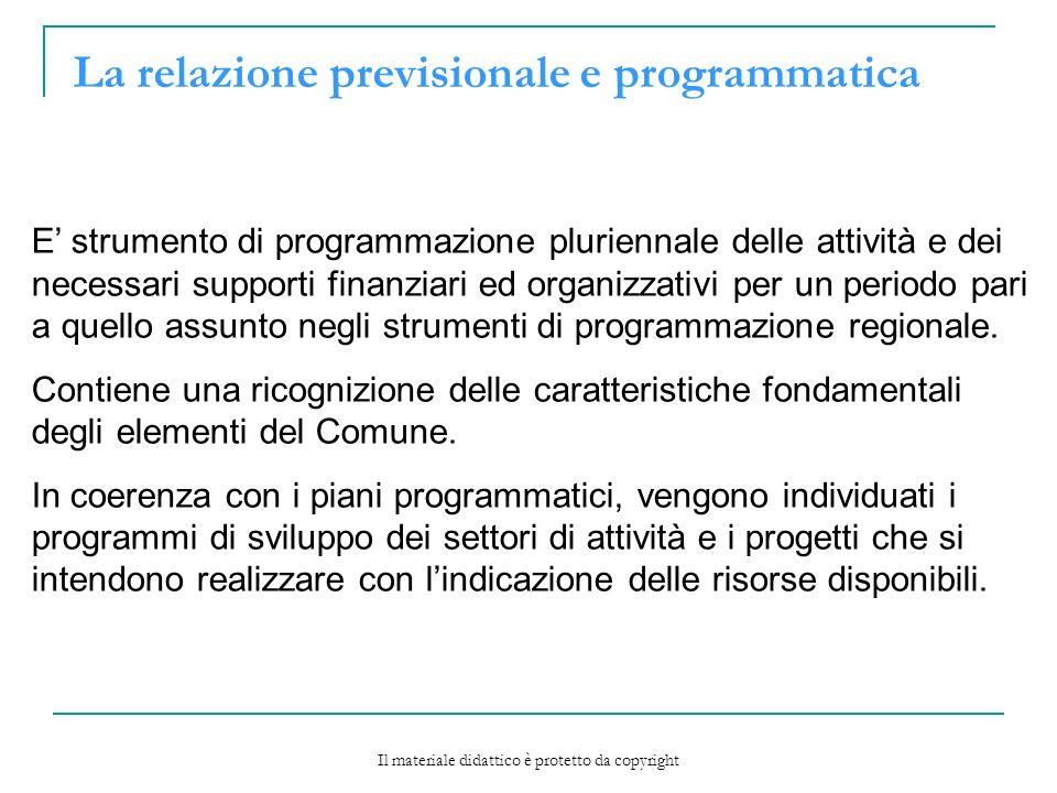 La relazione previsionale e programmatica