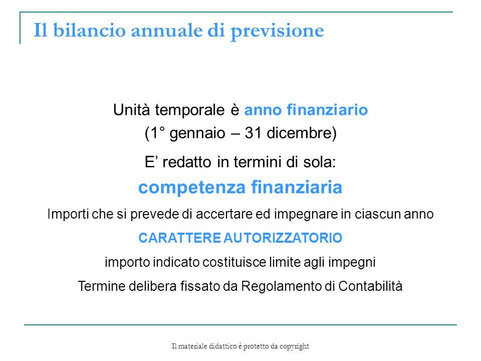 Il bilancio annuale di previsione