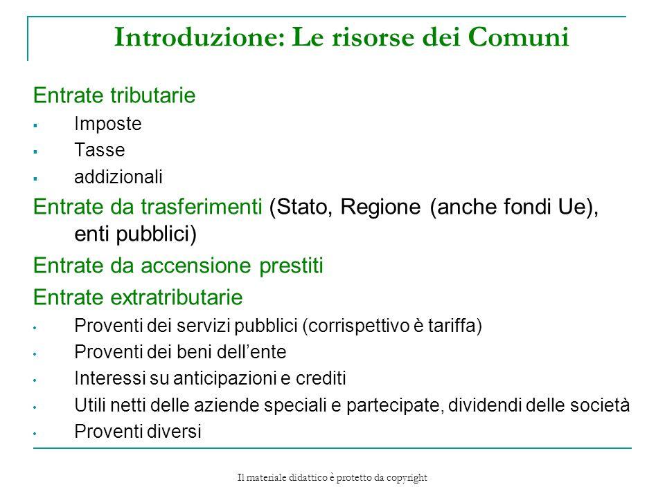 Introduzione: Le risorse dei Comuni