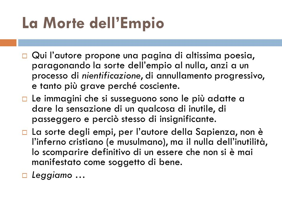 La Morte dell'Empio
