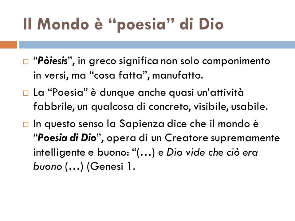 Il Mondo è poesia di Dio