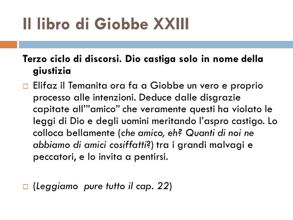 Il libro di Giobbe XXIII