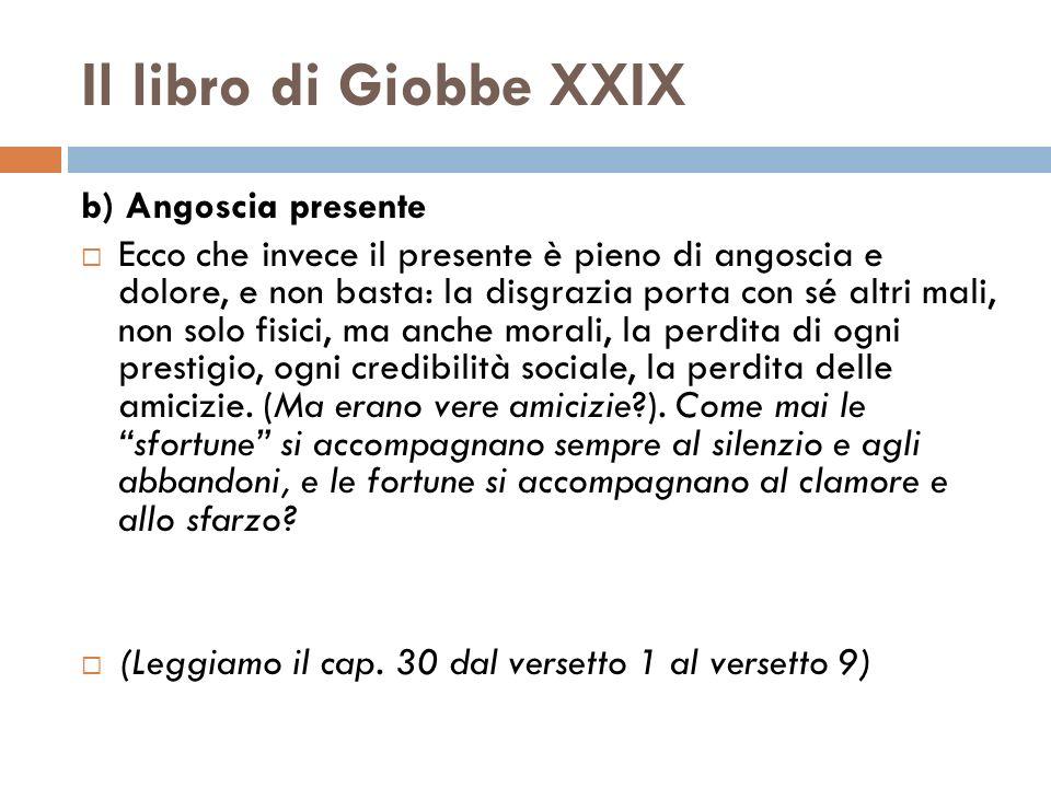 Il libro di Giobbe XXIX b) Angoscia presente